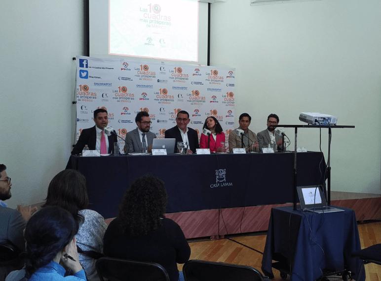 """Provive presenta """"Las 10 cuadras más prósperas de México"""""""