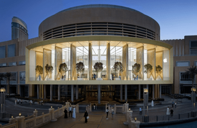 Destaca diseño del Apple Dubai Mall