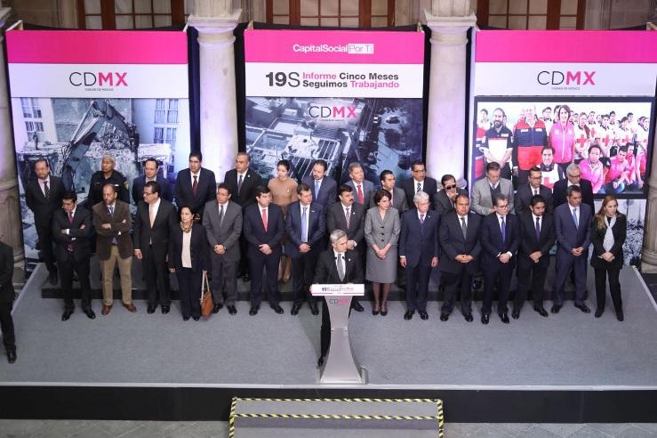 GCDMX presenta avances a 5 meses del 19s