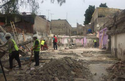 Finalizó demolición de casa en la colonia San Felipe de Jesús