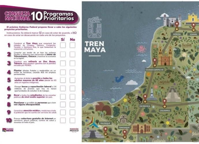 Primera consulta sobre Tren Maya será en Calakmun, Campeche