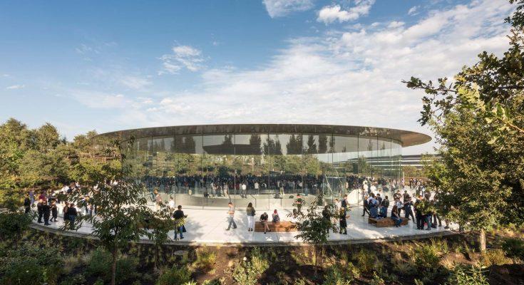 Teatro Steve Jobs tiene el techo de fibra de carbono más grande del mundo
