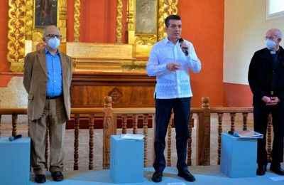 Tras restauración, INAH entrega templo dañado por sismos en Chiapas