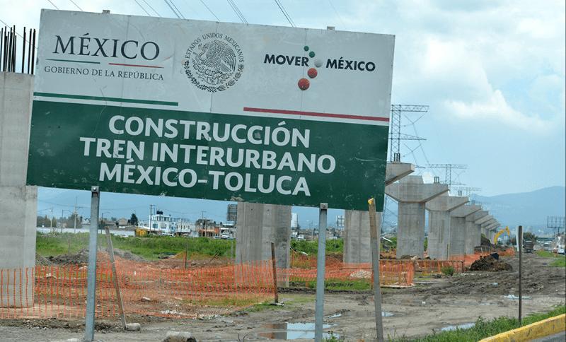 SCT atiende caída de trabes del Tren México-Toluca