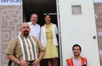 Abren aula móvil para trabajadores del Tren Maya