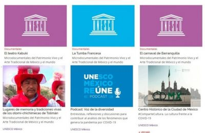 Unesco ofrece contenidos culturales en 'Contigo en la Distancia'