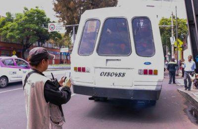 Vehículos contaminantes son sancionados por Sedema, Semovi y SSC