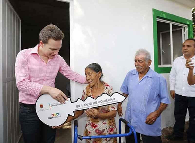 Chiapas ha invertido 232 mdp en materia de vivienda