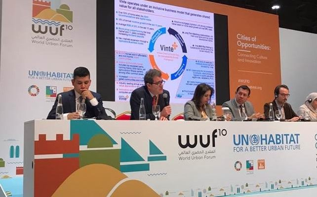 Vinte en el World Urban Forum-Vivienda-Domingo