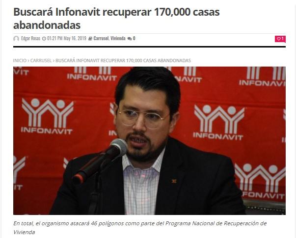 Detecta Infonavit 650,000 viviendas abandonadas