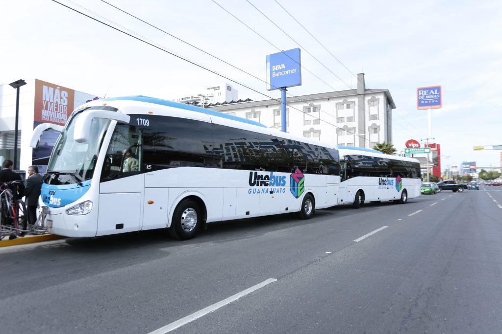 Sistema de transporte 'UNEBUS' mejora movilidad en Guanajuato
