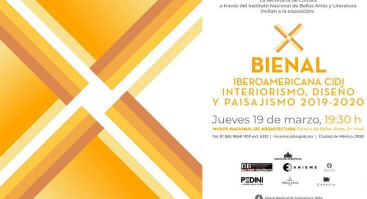 X Bienal de Interiorismo, Diseño y Paisajismo inicia el 19 de marzo