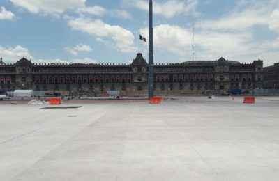 Renovación del Zócalo, con 52% de avance