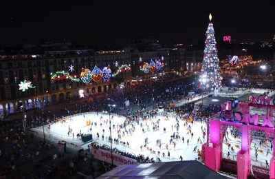 Continúan actividades navideñas en la Ciudad de México