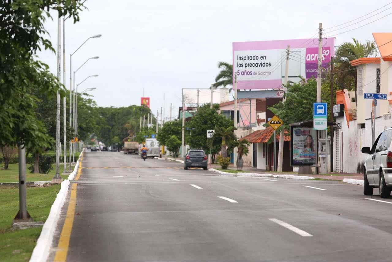 Entregan obras en Avenida Mérida 2000