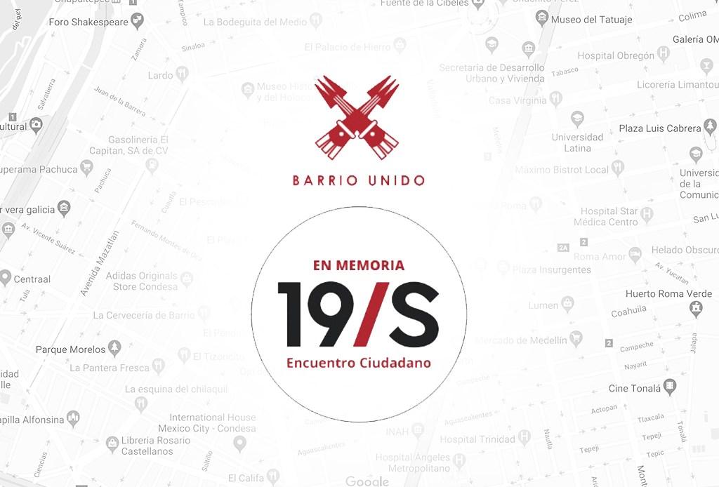 Roma-Condesa organizan actividades por aniversario del sismo 19S