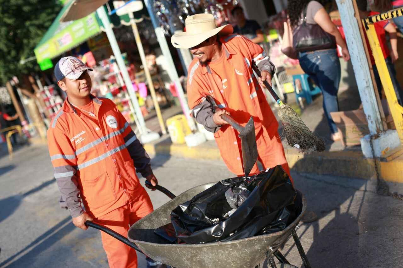 Refuerzan operativo de limpieza durante peregrinaciones