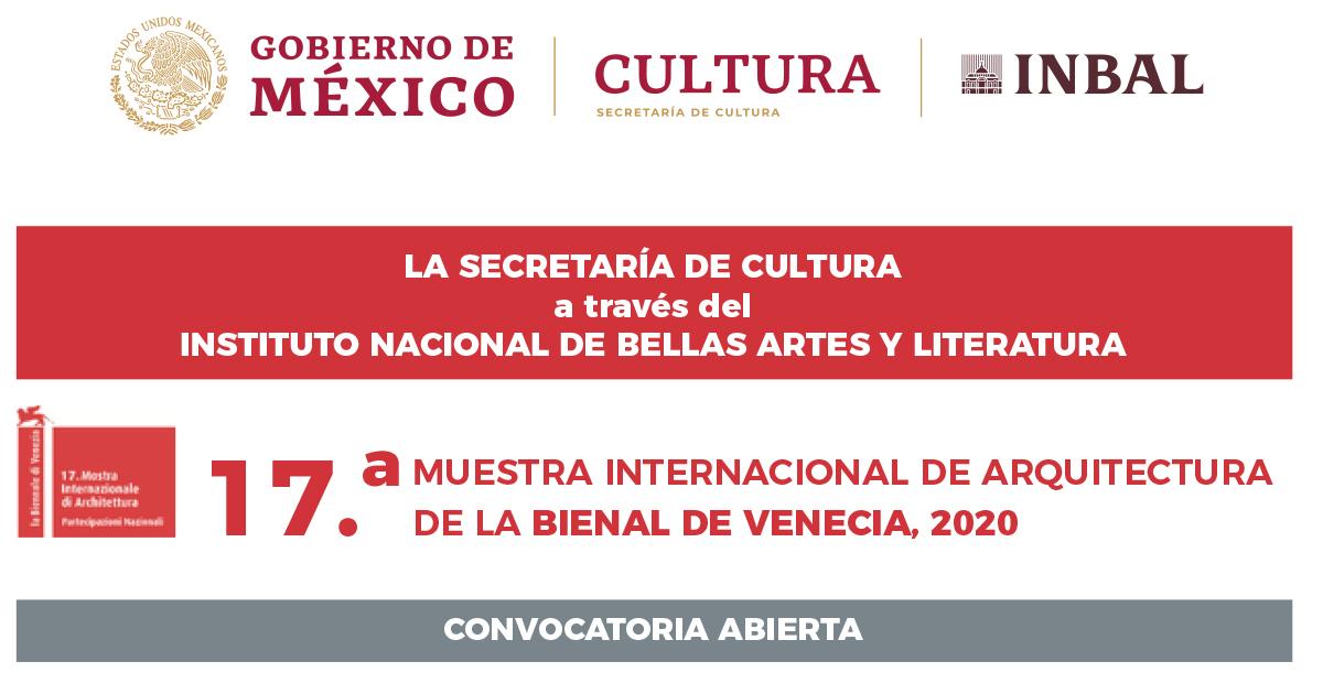 Secretaría de Cultura convoca a la Bienal de Venecia
