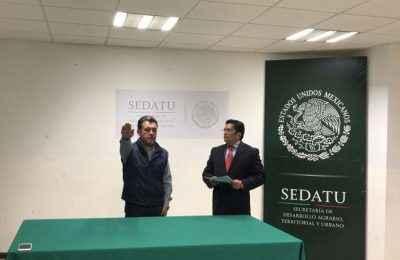 Toman protesta a nuevo delegado de Sedatu en Puebla