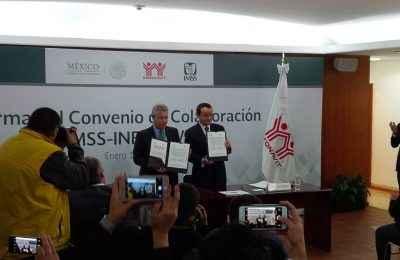 Firman IMSS e Infonavit convenio de colaboración