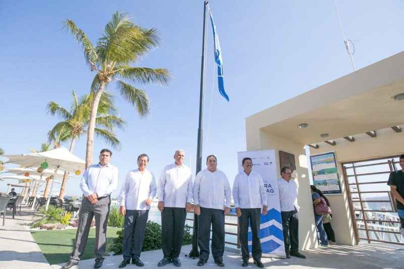 Otorgaron distintivo Blue Flag a Marina Cortez