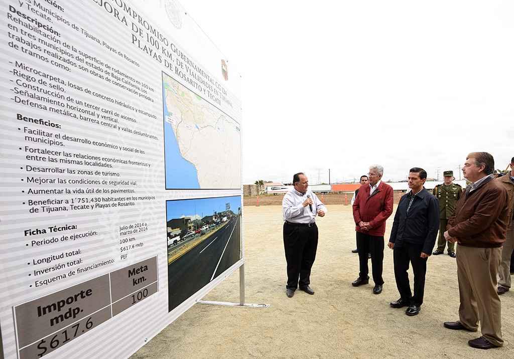 Gobierno Federal mejoró infraestructura carretera en Baja California