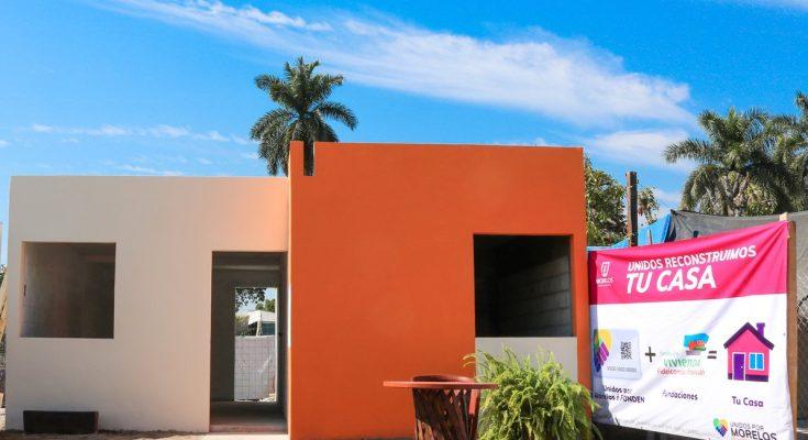 Unidos por Morelos construye casas a damnificados