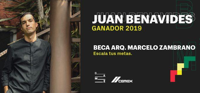 Juan Benavides, ganador de la Beca Arq. Marcelo Zambrano