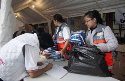 Capitalinos se solidarizan con daminificados por el sismo