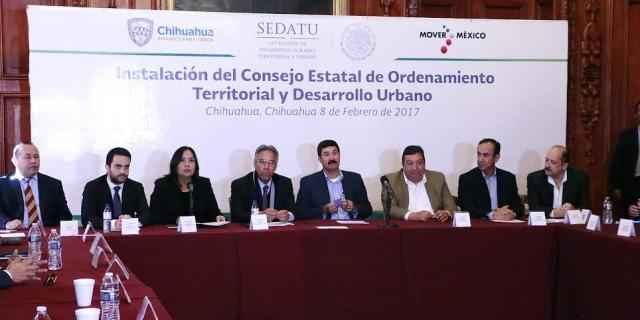 Instalan Consejo Estatal de Desarrollo Urbano en Chihuahua