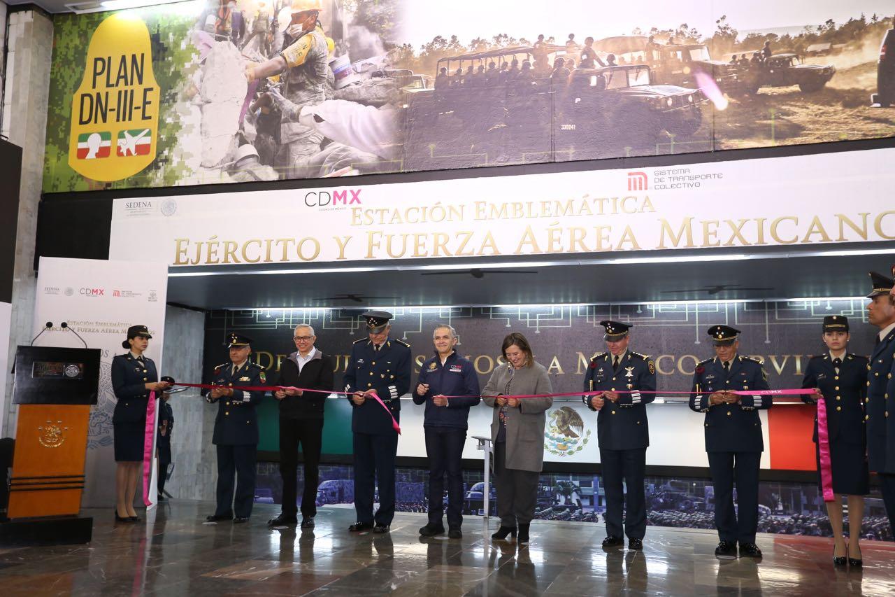 Inauguran estación de Metro en honor a las Fuerzas Armadas