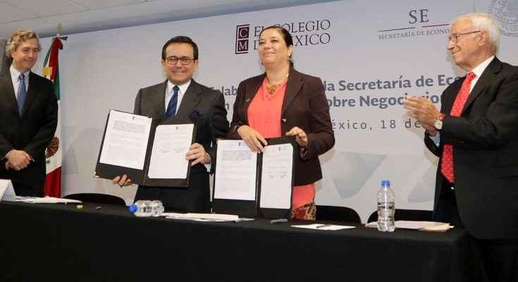 Firman convenio para fortalecer comercio internacional