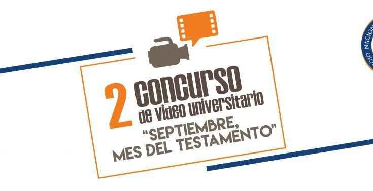 Amplían convocatoria para 2° concurso Septiembre, Mes del Testamento