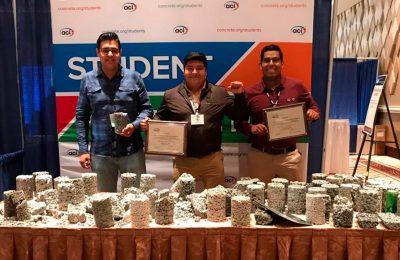 Estudiantes de la UNAM ganan segundo lugar certamen internacional de concreto