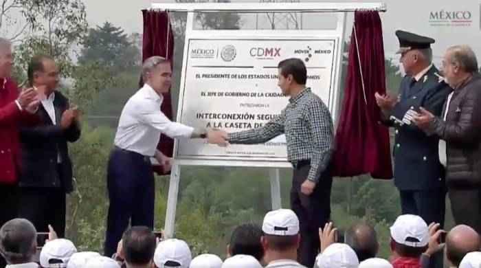 Inauguran la interconexión segundo piso a la caseta Tlalpan
