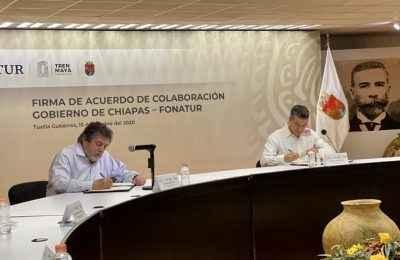 Por Tren Maya, gobierno de Chiapas y Fonatur acuerdan trabajo conjunto