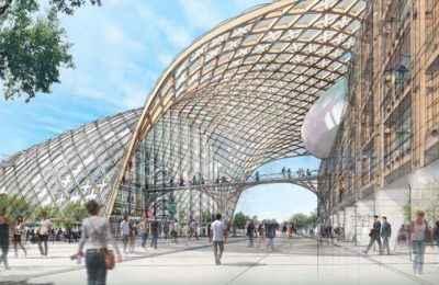 Shigeru Ban Architects diseña la nueva sede para Swatch y Omega