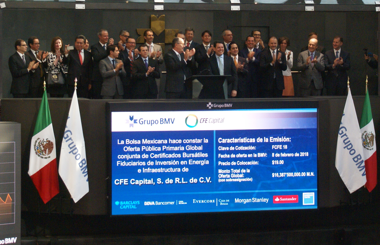 CFE emitió la primera Fibra de Energía en el Mercado Mexicano