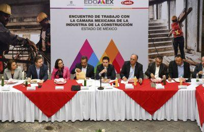 Gobierno Edomex y CMIC trabajan para impulsar desarrollo de la entidad
