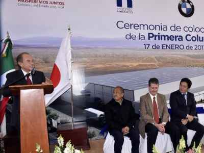 Colocan primera piedra de Hirotec México en SLP