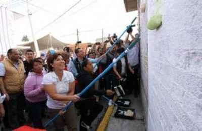 Intervienen fachadas en Ecatepec