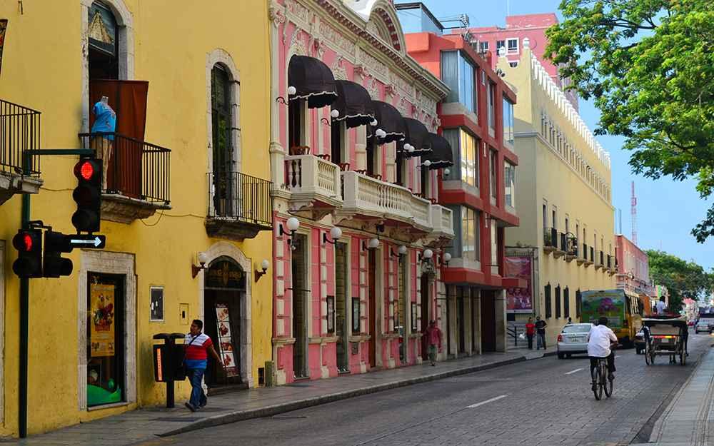 Avanzan en el rescate de fachadas en m rida portal for Muebles de oficina merida yucatan