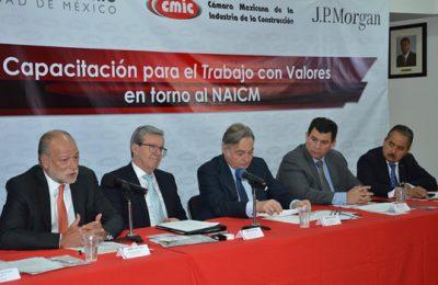 Capacitarán a vecinos para colaborar en obras del NAICM