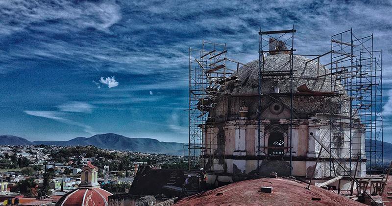 Avanza recuperación de patrimonio histórico dañado en Atlixco
