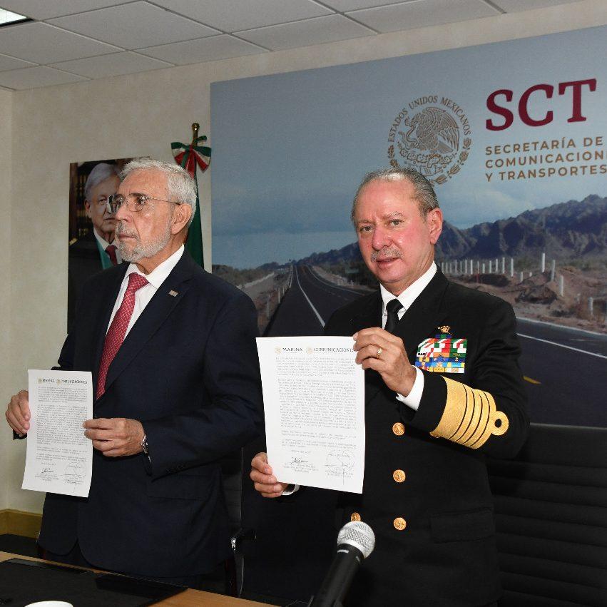 SCT formaliza traspaso de Puertos y Marina Mercante a SEMAR
