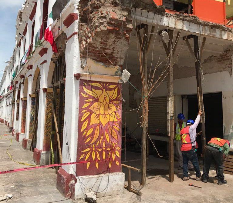 Inician labores para recuperar inmuebles históricos afectados por los sismos