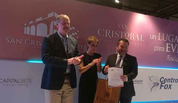 Vicente Fox presentó el Hotel Hacienda San Cristóbal
