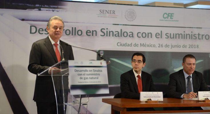 Red de gas natural impulsará desarrollo de Sinaloa