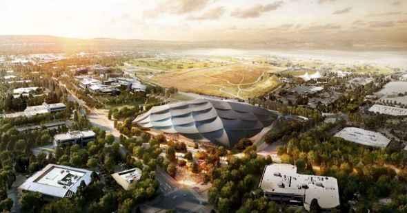 Muestran nuevas imágenes de nueva sede de Google