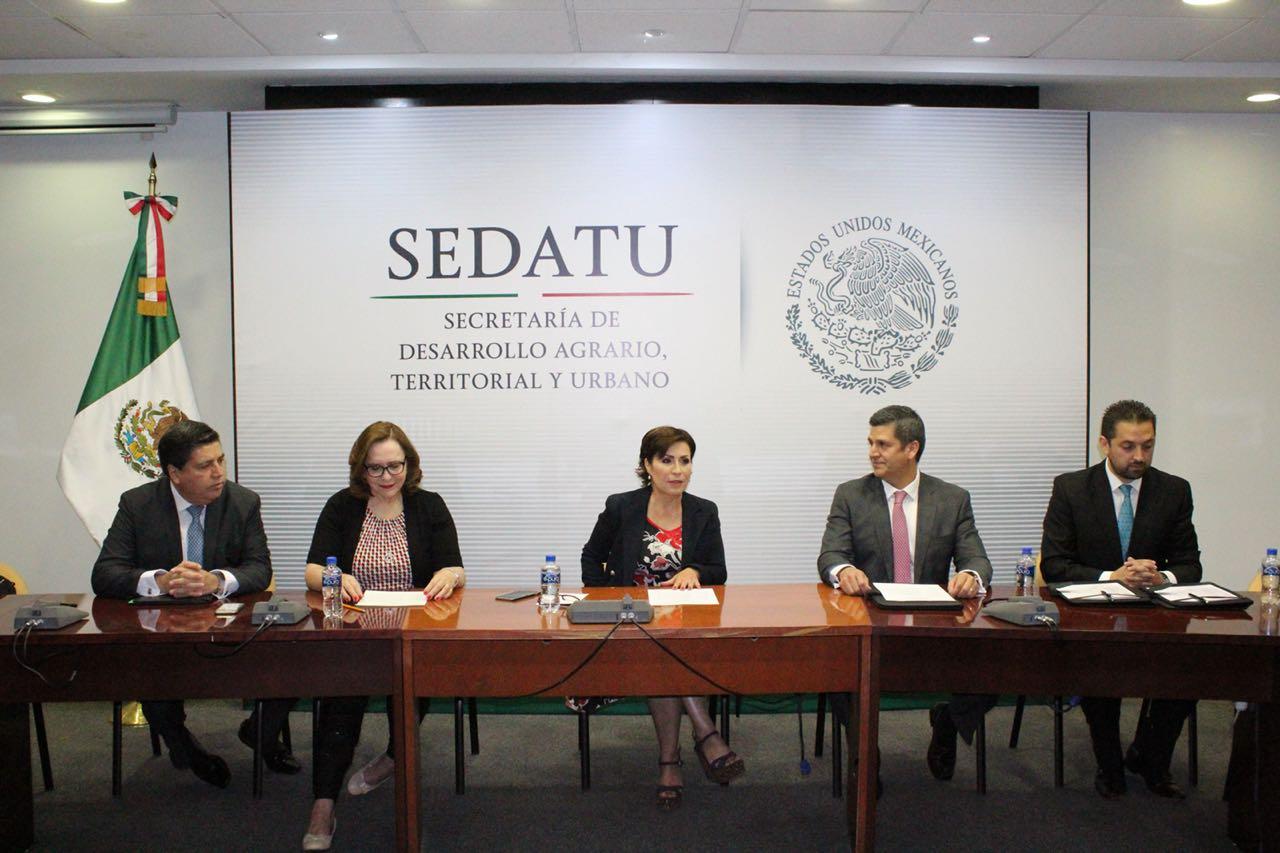 Firman Sedatu y FEPADE compromiso para blindar elecciones